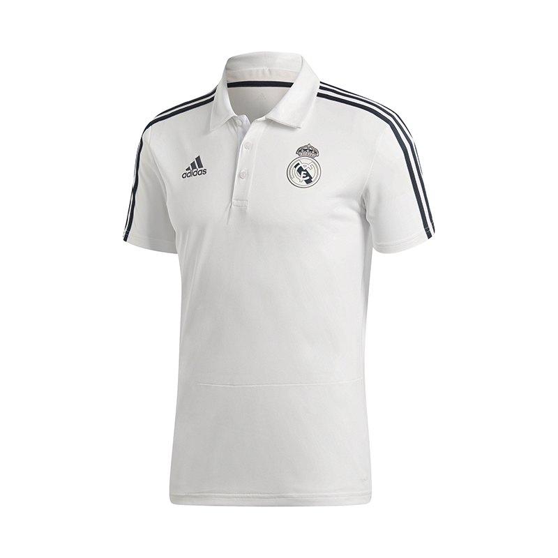 adidas Real Madrid Poloshirt Weiss - weiss