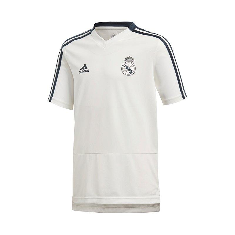 adidas Real Madrid Trainingsshirt Kids Weiss - weiss