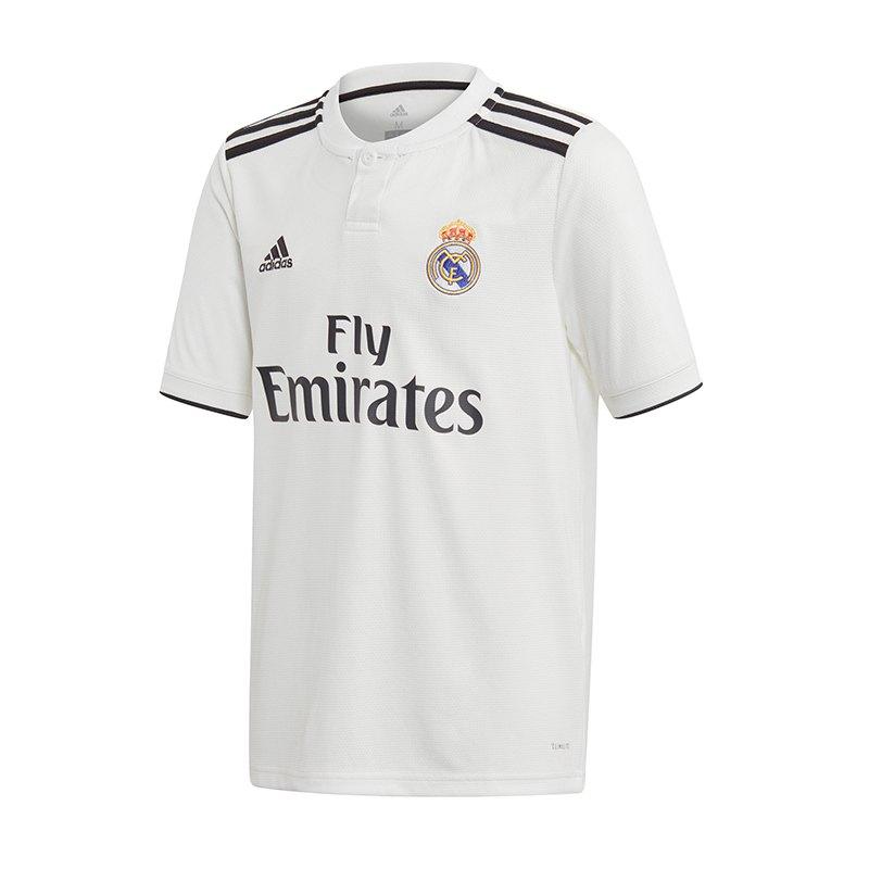 adidas Real Madrid Trikot Home Kids 2018/2019 - weiss