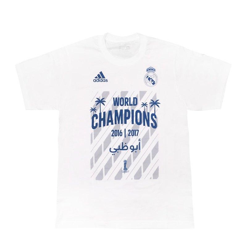 adidas Real Madrid World Champion 17 T-Shirt Kids - weiss