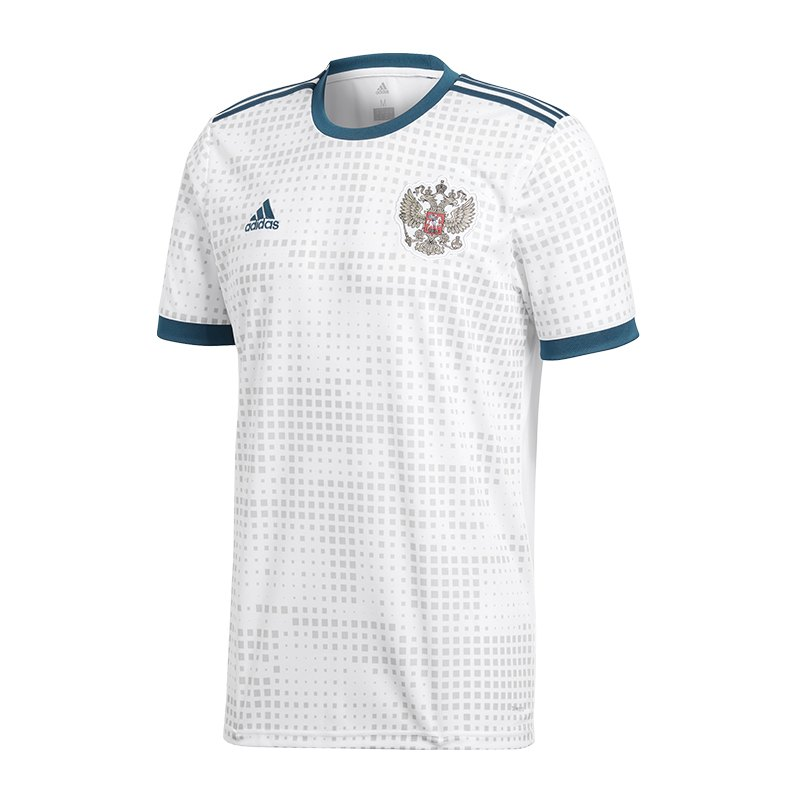adidas russland trikot away wm 2018 weiss weltmeisterschaft fu ball shortsleeve fanshop. Black Bedroom Furniture Sets. Home Design Ideas