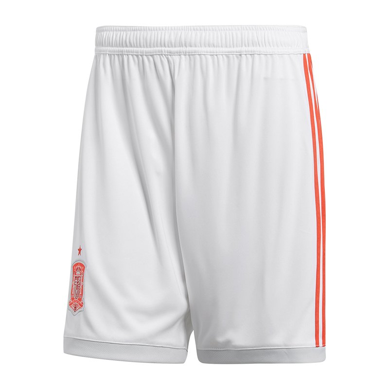 adidas Spanien Short Away Kids WM 2018 Weiss - weiss