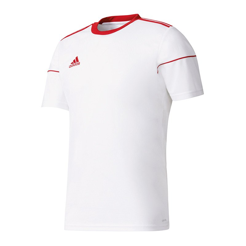 adidas Squadra 17 Trikot kurzarm Weiss Rot - weiss