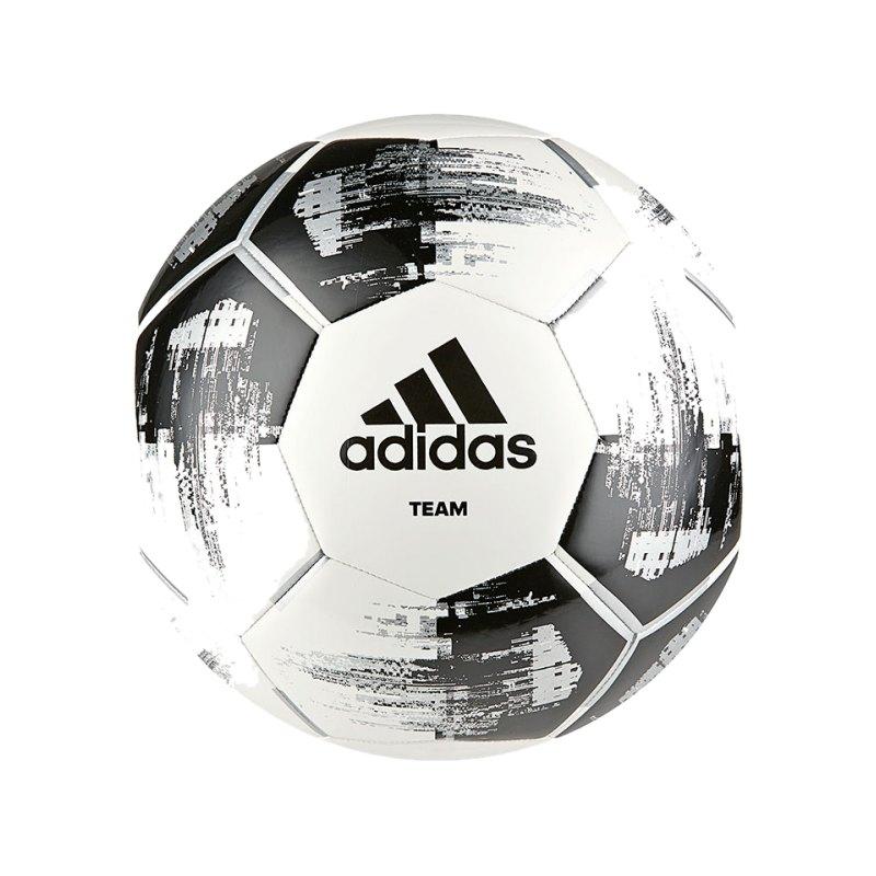 adidas Team Glider Trainingsball Weiss Schwarz - weiss