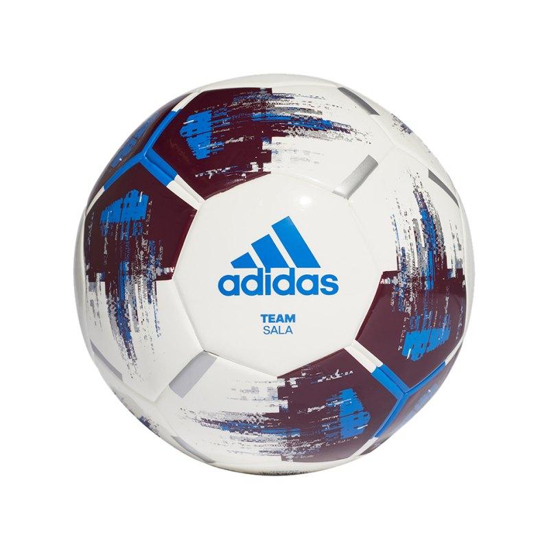 adidas Team Sala Fussball Weiss Rot Blau - Weiss