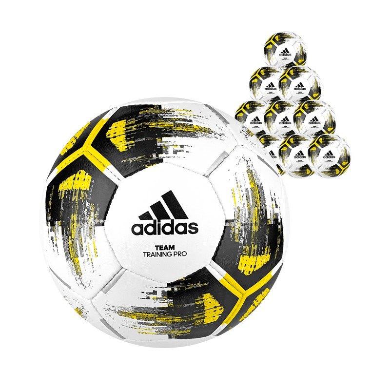 adidas Team Trainingpro 10xFußball Weiss Gelb - weiss