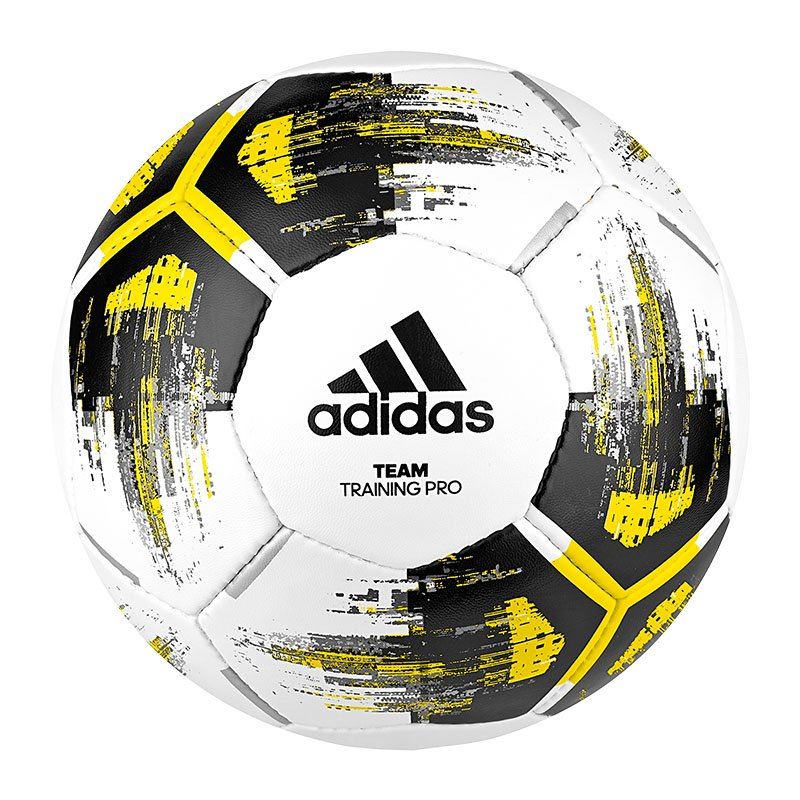 adidas Team Trainingpro Trainingsball Weiss Gelb - weiss
