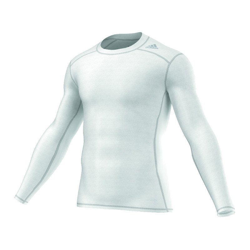 adidas Tech Fit Base Longsleeve Shirt Weiss - weiss