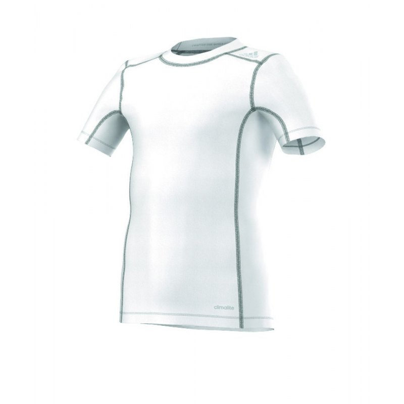 adidas Tech Fit Base Tee Kurzarmshirt Kids Weiss - weiss