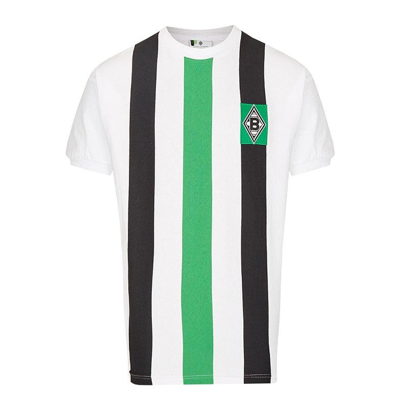 Borussia Mönchengladbach Retro Trikot Weiss 1973 - weiss