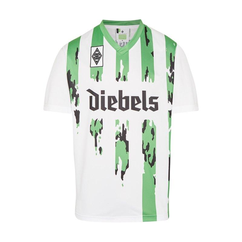Borussia Mönchengladbach Retro Trikot Weiss 1995 - weiss