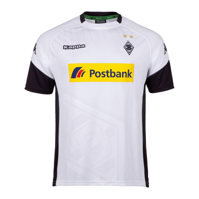 borussia m nchengladbach trikot home 17 18 weiss fanshop fanartikel replica heimtrikot. Black Bedroom Furniture Sets. Home Design Ideas