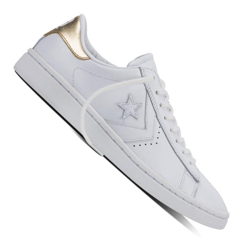 Converse PL LP Sneaker Damen Weiss Gold - weiss