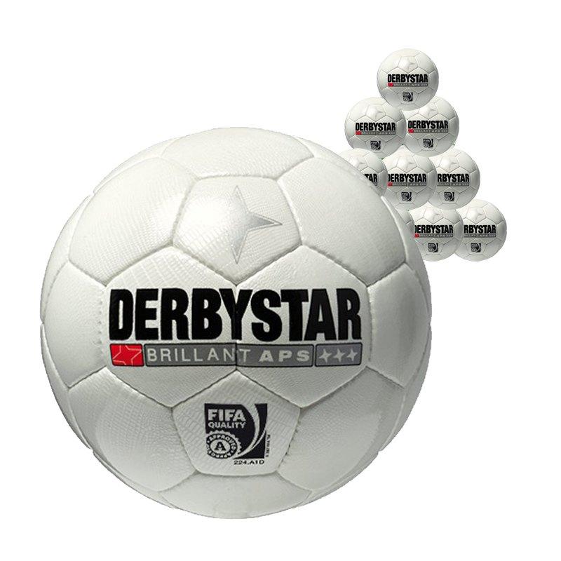 Derbystar Brillant APS 10xSpielball Weiss - weiss