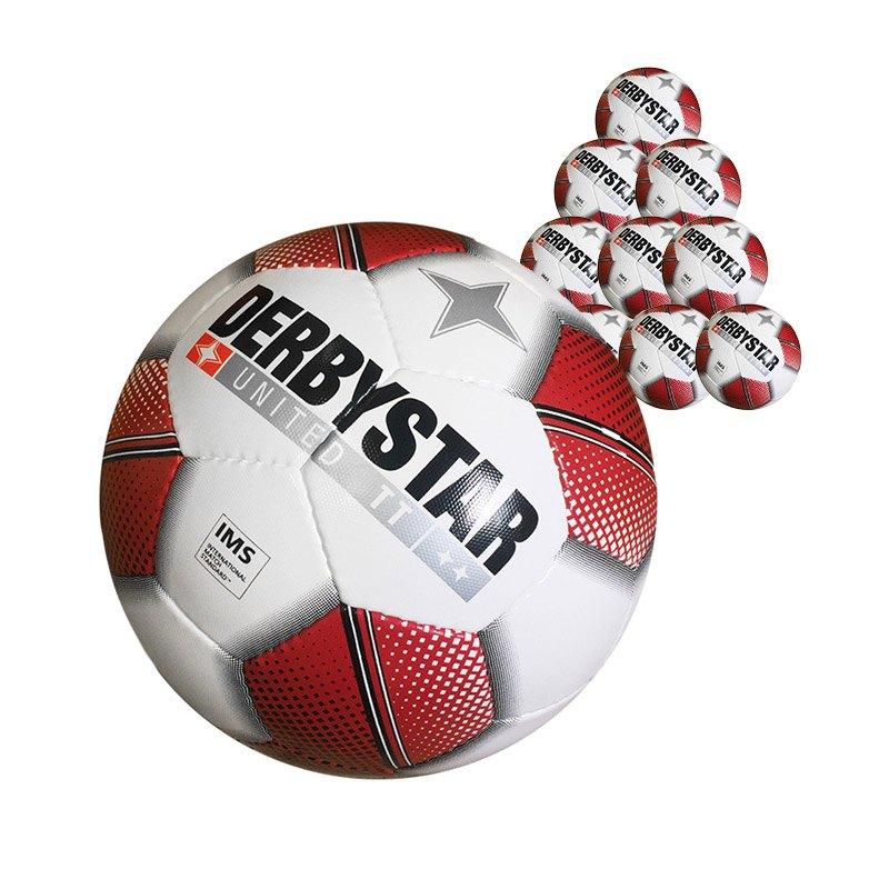 Derbystar United TT 10xFussball Weiss - weiss