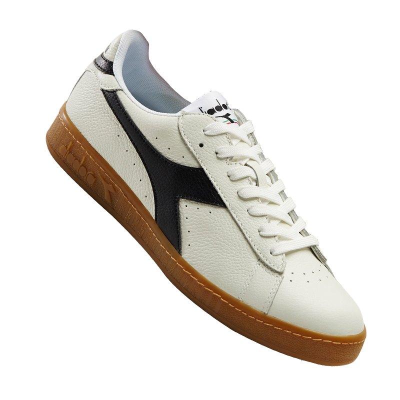 Diadora Game L Low Sneaker Weiss Schwarz C0351 - weiss