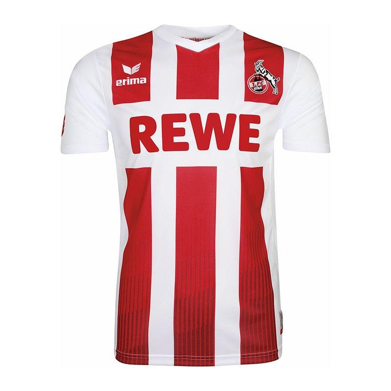 Erima 1. FC Köln Trikot Home 17/18 Kids Weiss Rot - weiss
