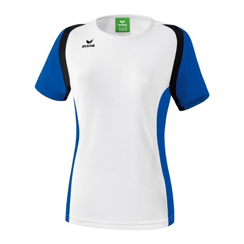 Erima Razor 2.0 T-Shirt Damen Weiss Blau Schwarz - weiss