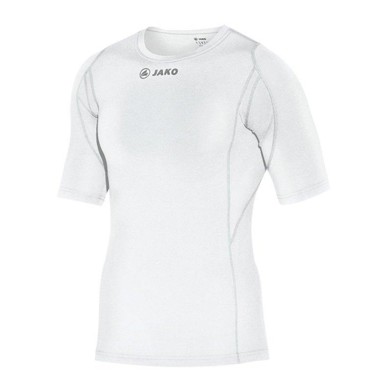 Jako Compression T-Shirt Unterziehshirt Weiss F00 - weiss