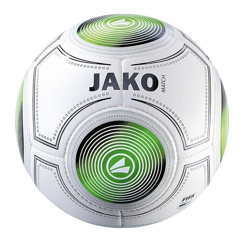 Jako Match Spielball Weiss Schwarz Grün F18 - weiss