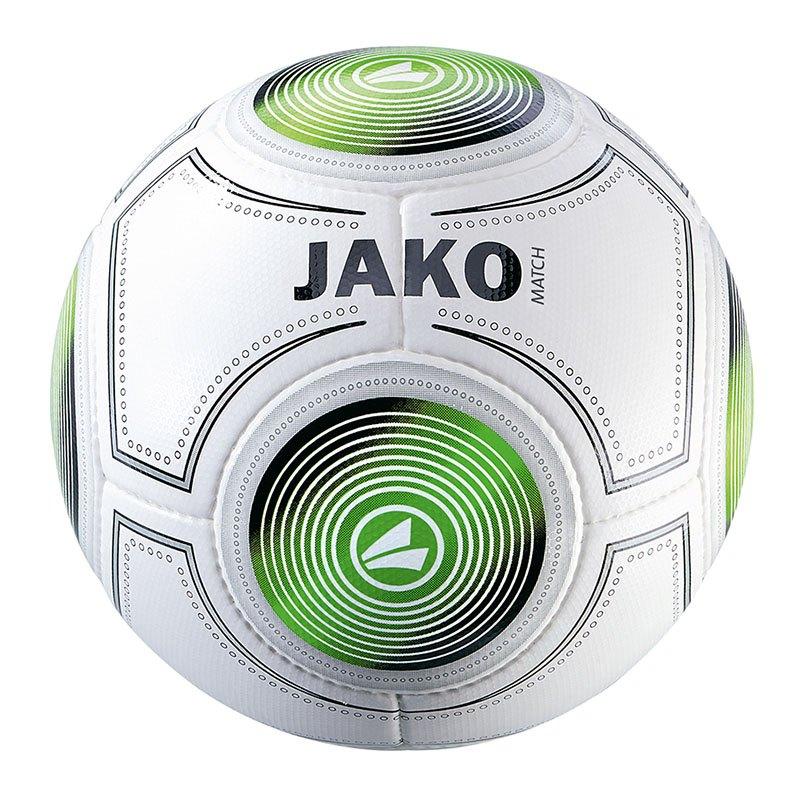 Jako Match Trainingsball Weiss Schwarz Grün F18 - Weiss