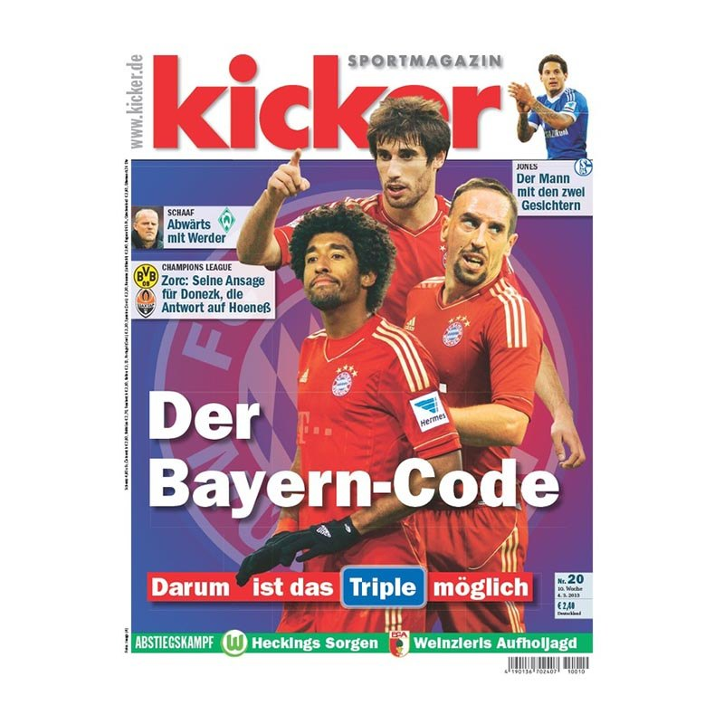 kicker Ausgabe 020/2013 (04.03.2013) - weiss