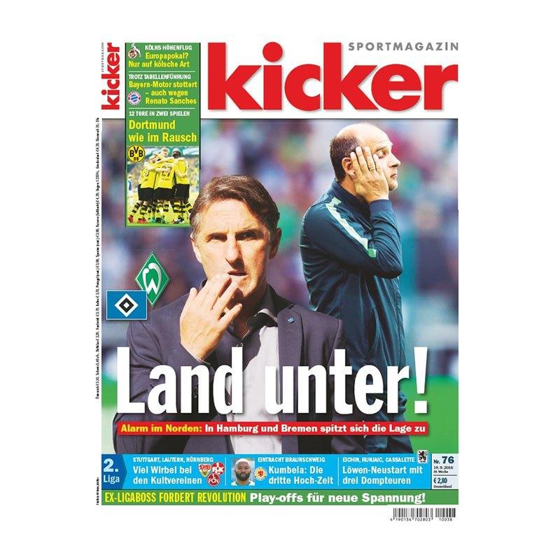 kicker Ausgabe 076/2016 vom 19.09.2016 - weiss