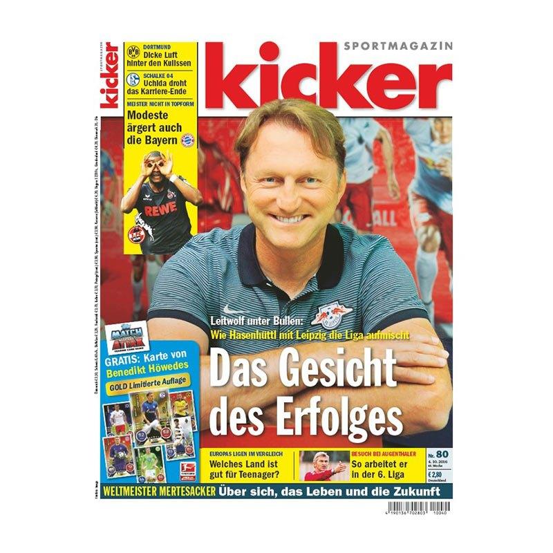 kicker Ausgabe 080/2016 vom 03.10.2016 - weiss