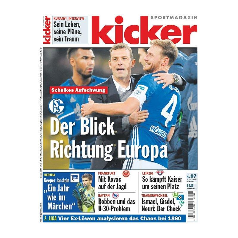 kicker Ausgabe 097/2016 vom 01.12.2016 - weiss