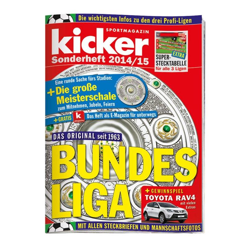 kicker Sonderheft Bundesliga 2014/15 - weiss