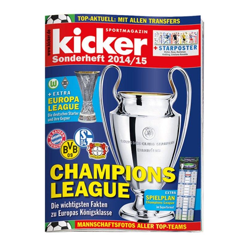kicker Sonderheft Champions League 2014/15 - weiss