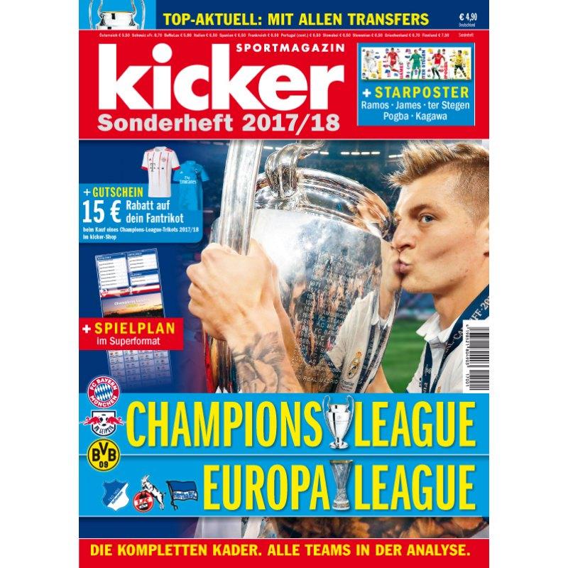 kicker Sonderheft Champions League 2017/18 - weiss