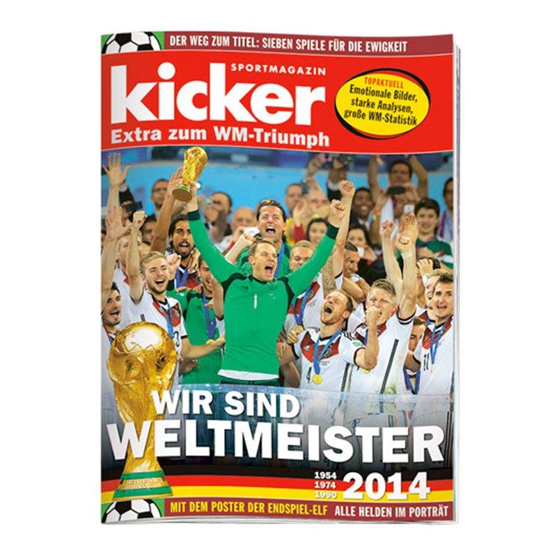 kicker Sonderheft extra zum WM-Triumph 2014 - weiss