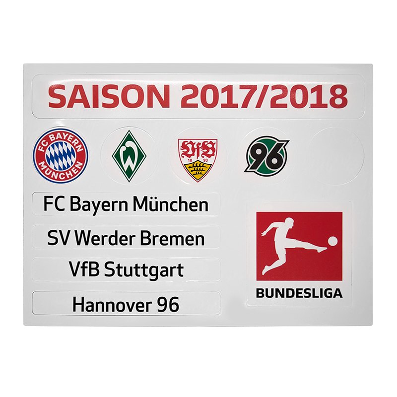 Magnettabelle Bundesliga Update-Set 2017/2018 - weiss