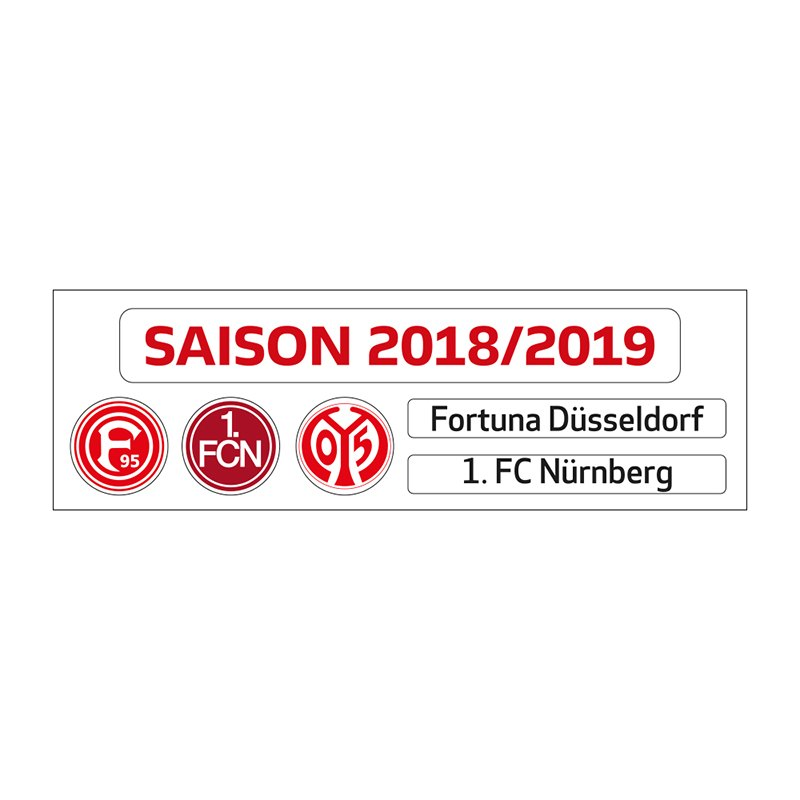 Magnettabelle Bundesliga Update-Set 2018/2019 Weiss