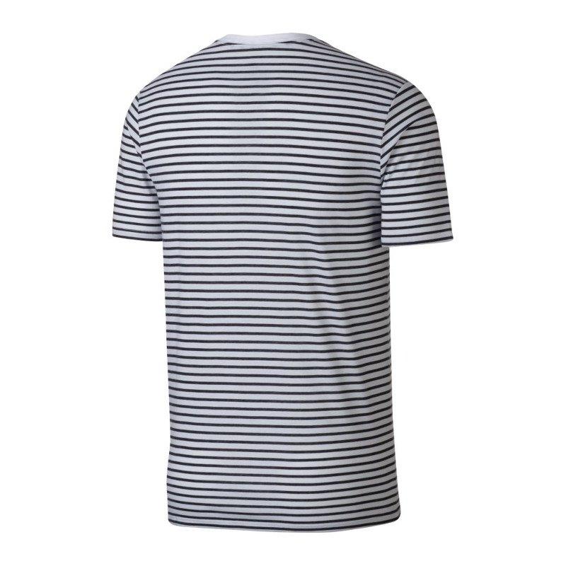 nike air tee swoosh t shirt weiss schwarz f102 trend. Black Bedroom Furniture Sets. Home Design Ideas