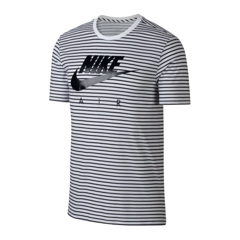 nike air tee swoosh t shirt weiss schwarz f102 trend shortsleeve freetime air outfit. Black Bedroom Furniture Sets. Home Design Ideas