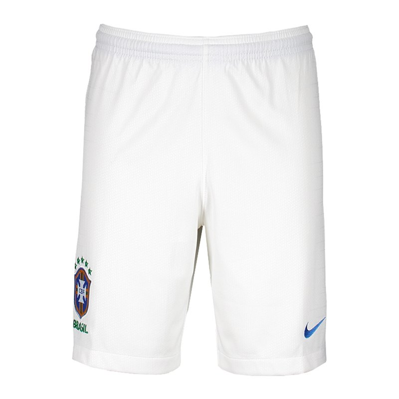 Nike Brasilien Short Away WM 2018 Kids F100 - weiss