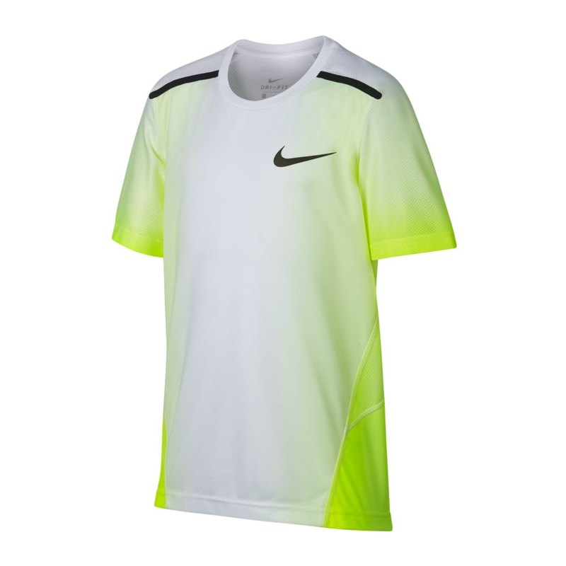 nike breath training top t shirt weiss f702 kurzarm. Black Bedroom Furniture Sets. Home Design Ideas