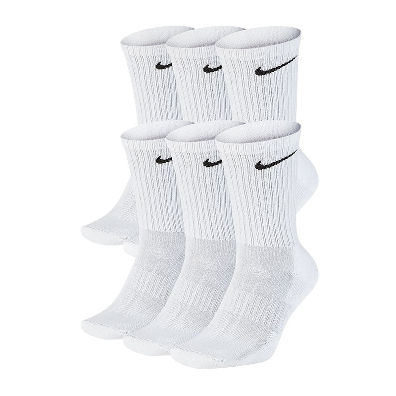 Nike Everyday Cushion Crew 6er Pack Socken F100 - weiss