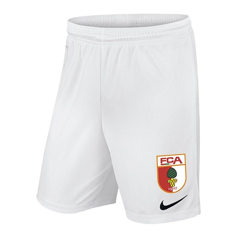 Nike FC Augsburg Short Home Kids 18/19 Weiss F100 - weiss