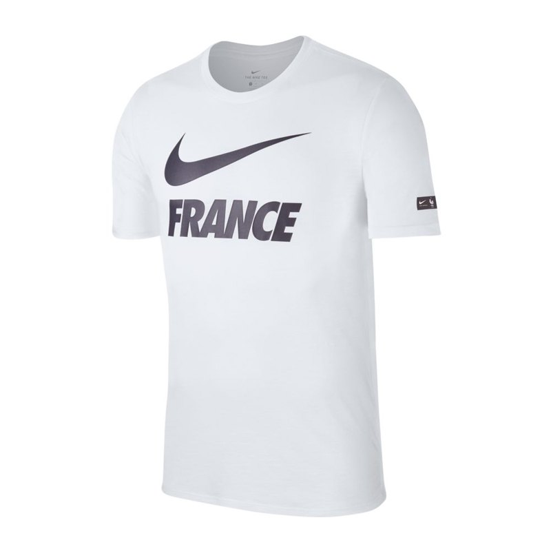 nike frankreich dry tee t shirt weiss f100 griezmann. Black Bedroom Furniture Sets. Home Design Ideas