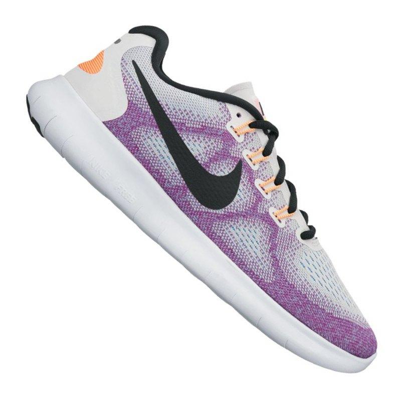 Nike Free RN 2017 Running Damen Weiss Lila F102 - Weiss