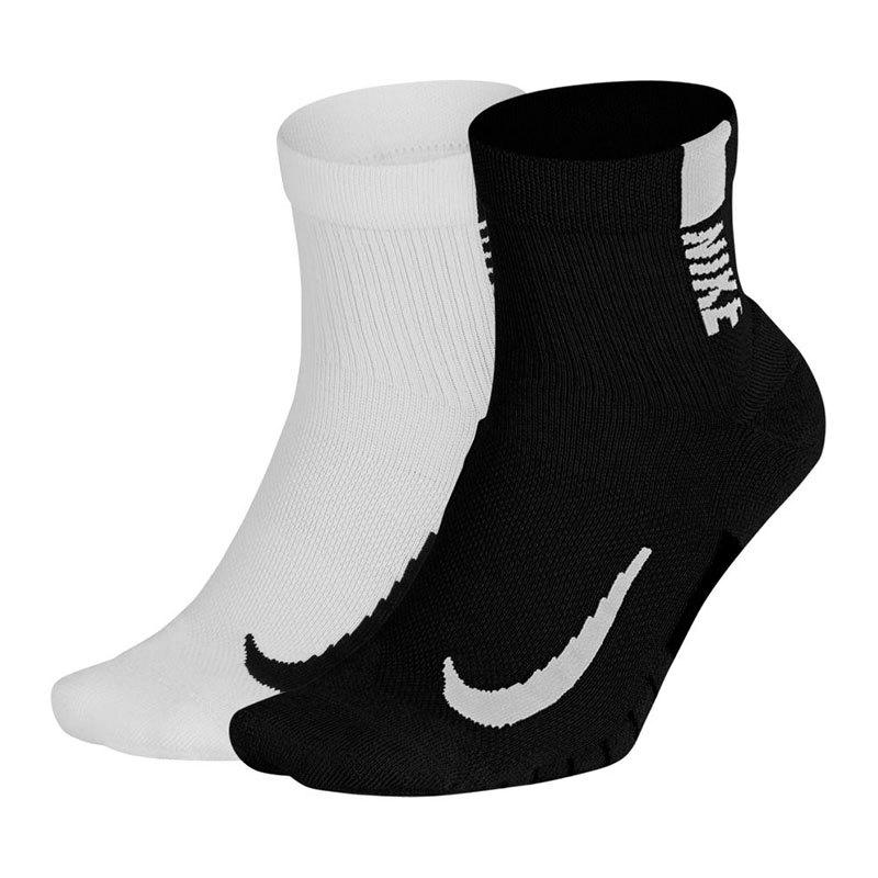 Nike Multiplier Ankle Socks 2er Pack Running F906 - weiss