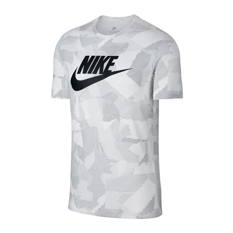 nike plus print 2 tee t shirt weiss f100 lifestyle. Black Bedroom Furniture Sets. Home Design Ideas