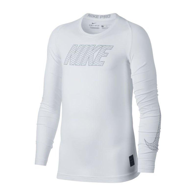 Nike Pro Compression Longsleeve Shirt Kids F100 - weiss