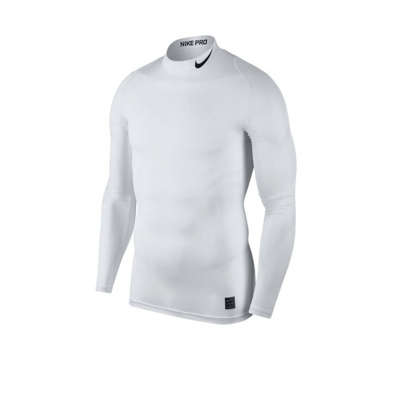 Nike Pro Compression Mock Weiss F100 - weiss