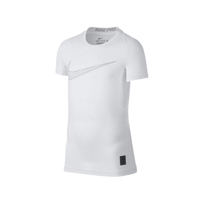 Nike Pro Compression T-Shirt Kids Weiss F100 - weiss