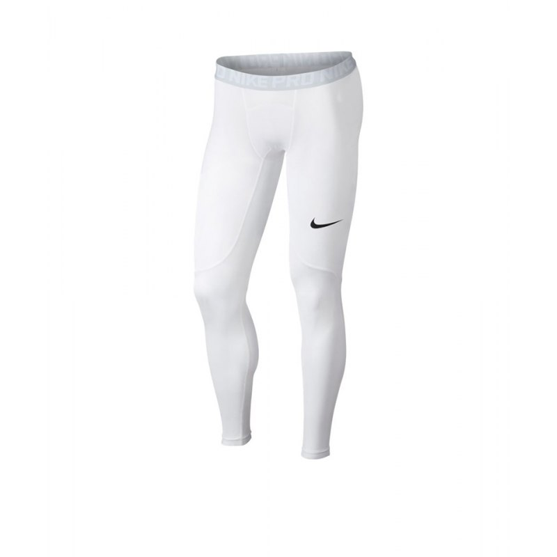 Nike Pro Tight Hose lang Weiss F100 - weiss