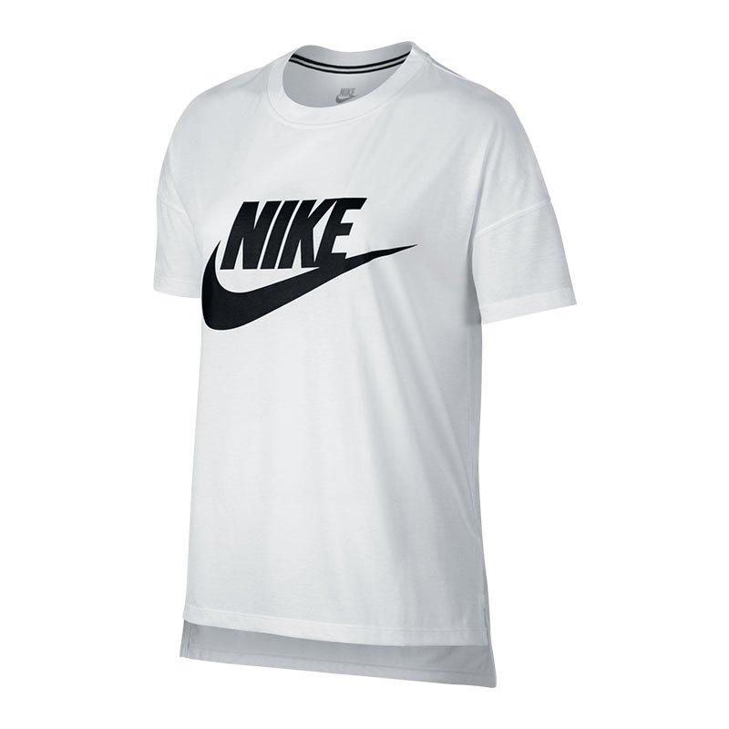 Nike signal logo tee t shirt damen weiss f100 weiss for Logo t shirts online